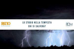 1. Lo studio nella tempesta. Chi si salverà?